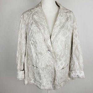 Coldwater Creek Lightweight Cotton Jacket Blazer